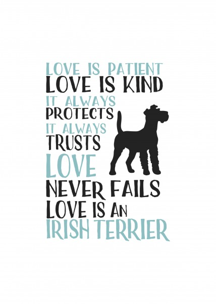 Kunstdruck - Love is an Irish Terrier