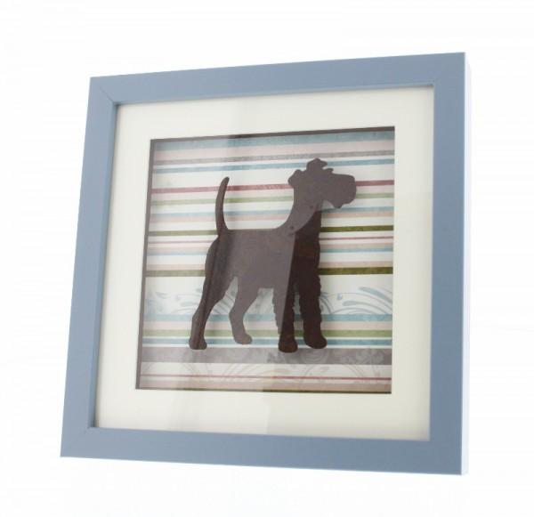 3D Bilderrahmen mit Irish Terrier - blau