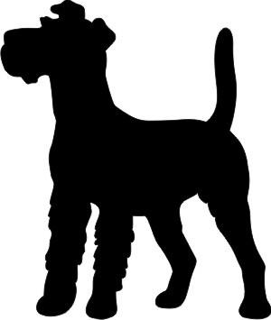 Irish Terrier Autoaufkleber